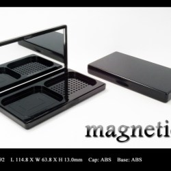 Pressed powder compact magnetic closure