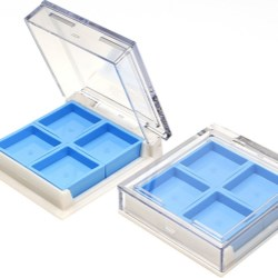 Eyeshadow compact with replaceable color bricks
