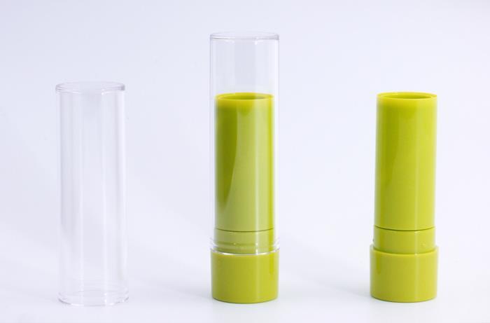 Lipsticks with clear SAN cap