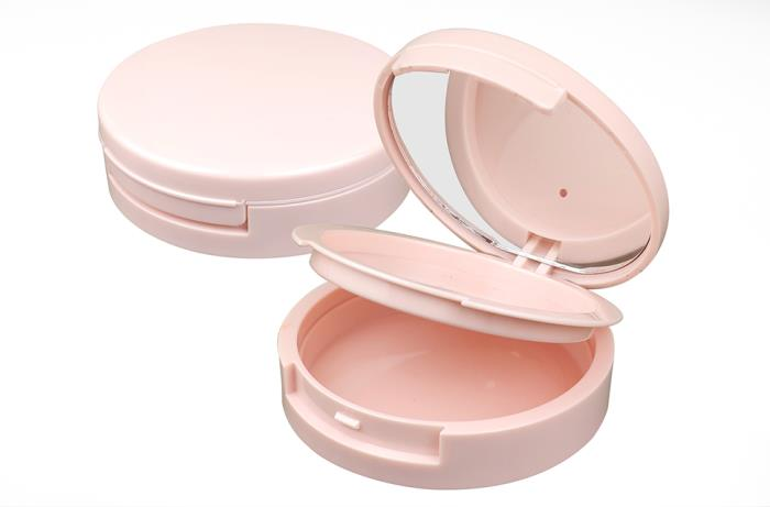 Makeup Compact Round: 2-tier