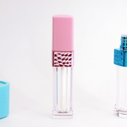 Lipgloss with embellishment on the bottle