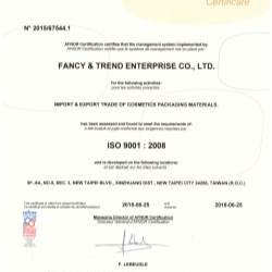 ISO 9001:2008 - Fancy & Trend
