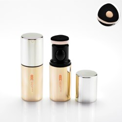 Foundation packaging bottle with puff