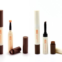 GCC's new double-ended cosmetic packaging for brow enhancer