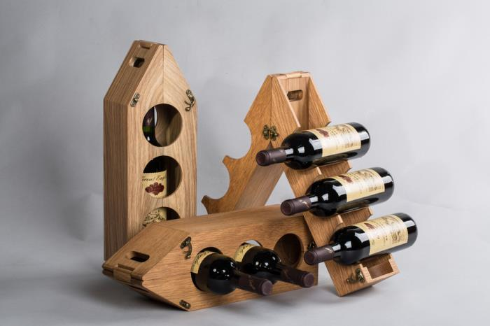 MingFengs bamboo-plastic composite wine display rack