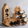 Eco Bamboo-plastic Composite Multi-functional Wine Packaging Box Display Rack