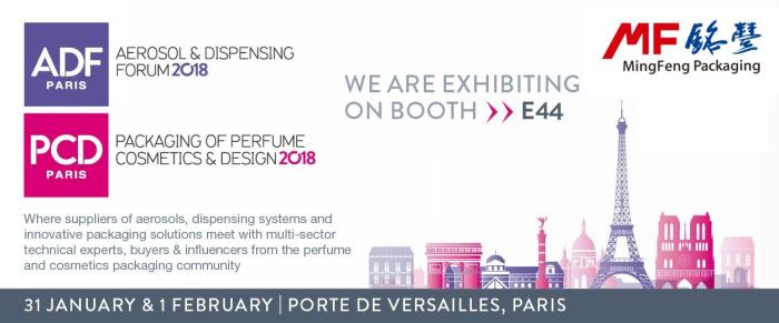 Ming Feng Packaging Exhibits at ADF&PCD Paris 2018