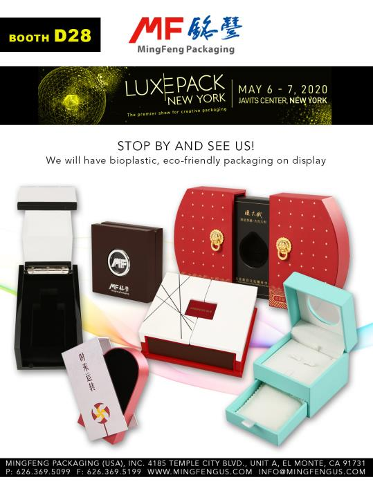 Bio-plastic eco-friendly packaging at Luxe Pack New York