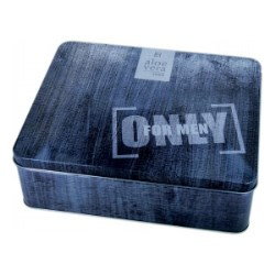 A bespoke tin For Men Only