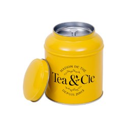 Tea & Cie gets a striking yellow custom-made tin