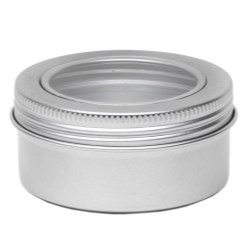 Aluminium tins with window