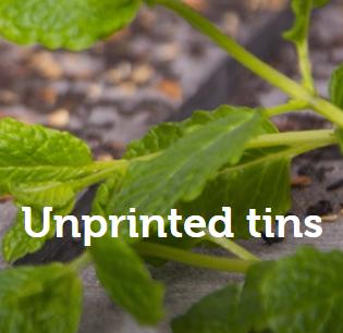Unprinted tins