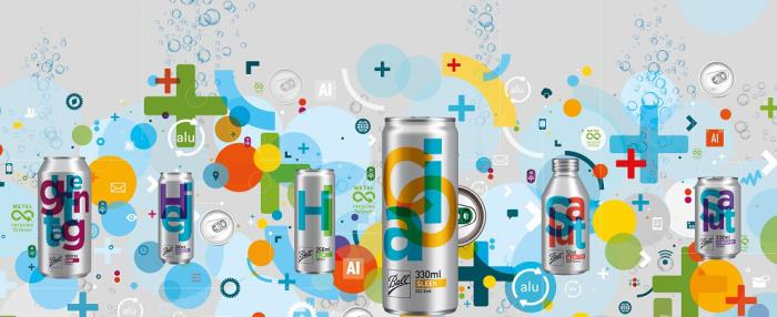 First flavored water to hit the Russian market, in striking Slim cans