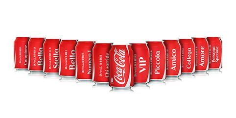 Rexam creates personalised cans for Coca-Cola Italia's 'Share a Kiss' campaign