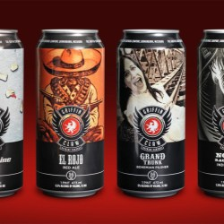 Rexam 16oz cans used to launch four core brands by Griffin Claw Brewing Co.
