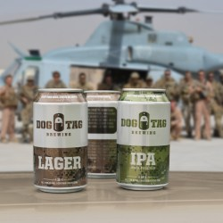 Dog Tag Brewing launches beer honoring Americas fallen warriors with unique can images using Rexams Standard Editions printing technology