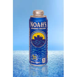 Noahs Spring Water brings re-sealable aluminum package to consumers with Rexams 24oz Cap Can