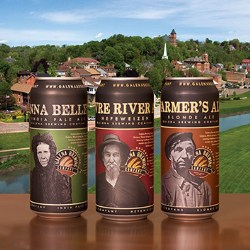 Galena Brewing Company offers three beers in Rexam cans