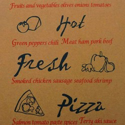 Brown Kraft Paper Pizza Box