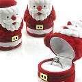 Santa Ring Display New Year Jewelry Gift Boxes