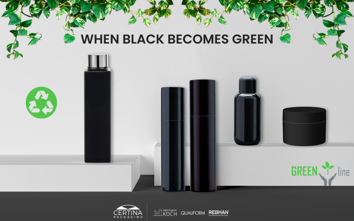 Certina Packagings black plastic is now green