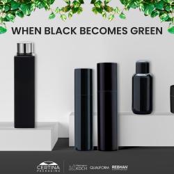 Certina Packagings black plastic is now green