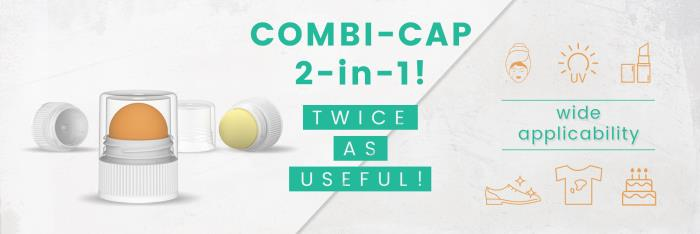 HK's Combi-Cap is twice as useful and twice as nice!