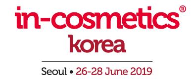 in-cosmetics Korea 2019