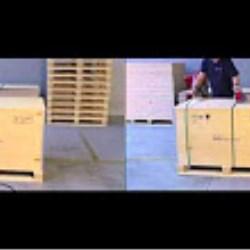 NO-NAIL BOXES: Comparative of the assembly of a pallet-box RIBOX 61/P4
