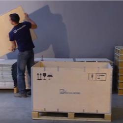 NO-NAIL BOXES: The assembly of a pallet-box RIBOX 66/P4