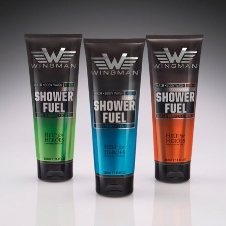 Wingman chooses M&H to package its new range of shower gels