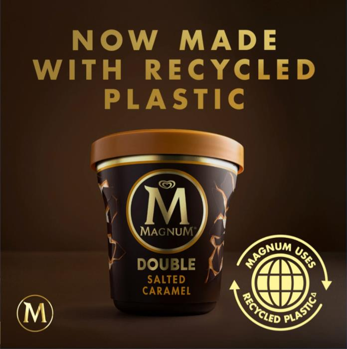 Magnum launches new tubs made using certified circular polypropylene from SABIC's TRUCIRCLE portfolio