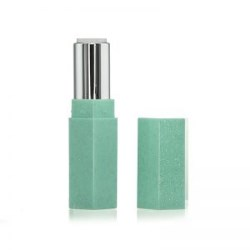 Shimmer Hexagonal Aqua Green Lipstick Case