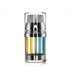 Orange/blue Dual-Chamber Airless Bottle