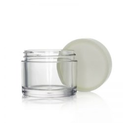 Round Clear PETG Jar with Natural Cap 50g
