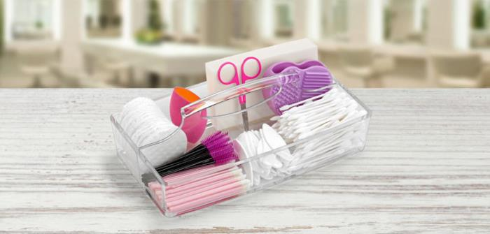 Qosmedix introduces new acrylic Cosmetic Caddy to product line