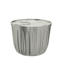 Fluted Conical Food Can (99x72mm)