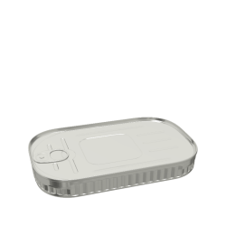348ml Rectangular Fluted Food Can
