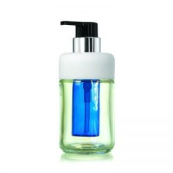 Glass bottle w/ pump & inner refill bottle