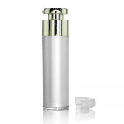 Gold Actuator Round Airless Bottle 50ml