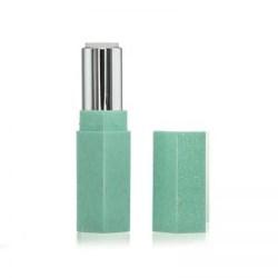 Shimmer Hexagonal Aqua Green Lipstick Case
