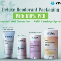 VIVA IML offers full color matching for its 100% PCR Deodorant Tubes