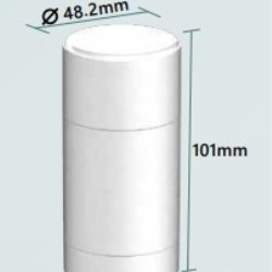 Single Use Soft Solid Round Deodorant Stick with Top fill