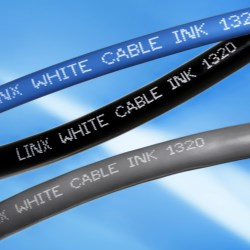New white ink provides effective coding on dark cables