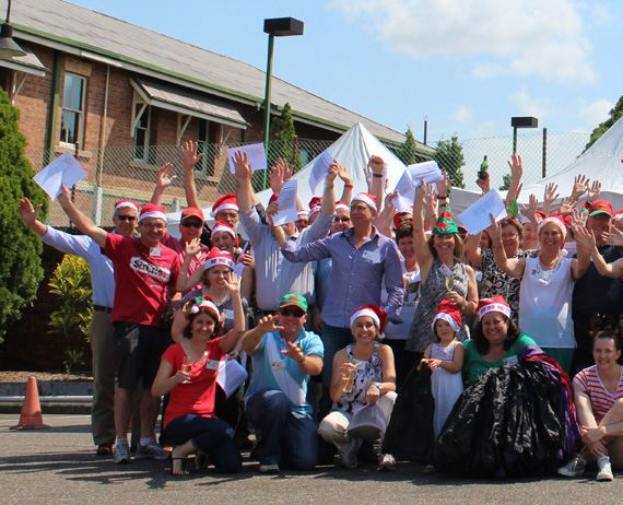 The AIP and SCLAA pack 600 hampers for foodbank