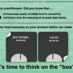 On-pack date labels and storage guidance to support consumers in reducing food waste