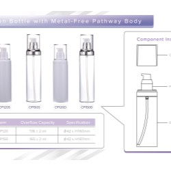 CP150 skin care bottle