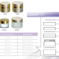 MP50 skin care jar