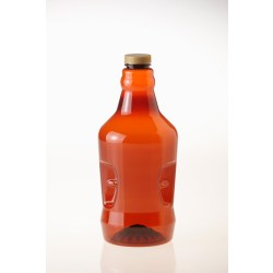 New plastic growler in amber