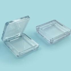 Square Clear Pressed Powder Compact Baoyu 1115